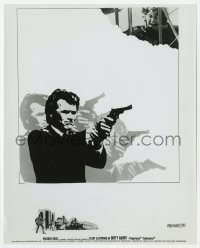 1a246 DIRTY HARRY 8x10 still 1971 montage art of Clint Eastwood in motion, plus two more images!
