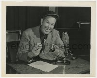 1a247 DIZZY DEAN 8.25x10 radio publicity still 1948 the legendary baseball pitcher now on radio!