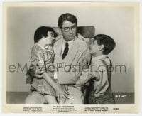 1a890 TO KILL A MOCKINGBIRD 8.25x10 still 1962 best Gregory Peck, Mary Badham & Phillip Alford!