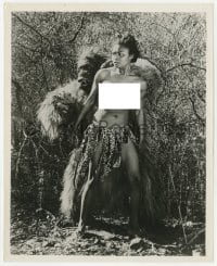 1a920 UNTAMED MISTRESS 8x10 still 1953 naked native woman attacked by fake gorilla monster!