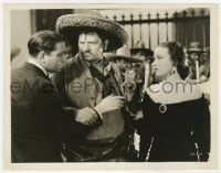 1a942 VIVA VILLA 8x10.25 still 1934 great close up of Mexican bandit Wallace Beery & Fay Wray!