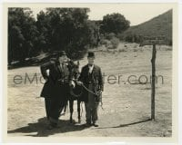 1a952 WAY OUT WEST 8x10 still 1937 Stan Laurel & Oliver Hardy standing with donkey by sign!