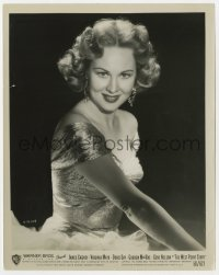 1a957 WEST POINT STORY 8x10 still 1950 portrait of sexy Virginia Mayo in shimmering low-cut top!