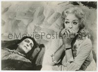 1a959 WHAT EVER HAPPENED TO BABY JANE? 7x9.5 still 1962 great c/u of Joan Crawford & Bette Davis!