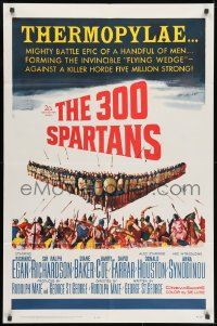 1b036 300 SPARTANS 1sh 1962 Richard Egan in Ancient Greece, The mighty battle of Thermopylae!