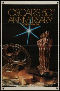 1b038 50TH ANNUAL ACADEMY AWARDS 1sh 1978 ABC, great image of Oscar statue!
