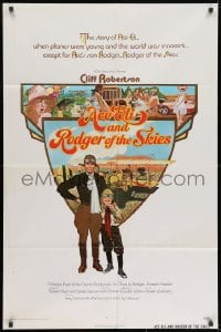 1b048 ACE ELI & RODGER OF THE SKIES int'l 1sh 1972 pilot Cliff Robertson, written by Steven Spielberg!