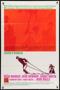 1b049 ADAM'S WOMAN int'l 1sh 1970 about founding of Australia by convicts, including Beau Bridges!