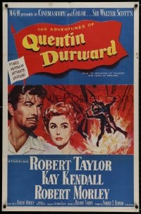 1b052 ADVENTURES OF QUENTIN DURWARD 1sh 1955 English hero Robert Taylor & pretty Kay Kendall!