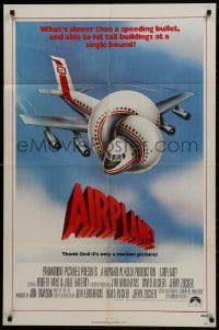 1b056 AIRPLANE int'l 1sh 1980 zany parody by Jim Abrahams and David & Jerry Zucker, Flying High!
