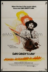 1b060 ALIEN THUNDER 1sh 1974 cool image of Donald Sutherland in title role as cowboy!