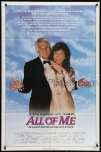1b062 ALL OF ME 1sh 1984 wacky Steve Martin, Lily Tomlin, the comedy that proves one's a crowd!