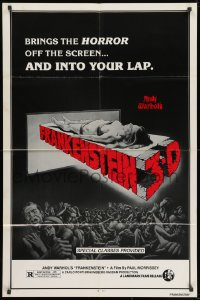 1b073 ANDY WARHOL'S FRANKENSTEIN 1sh R1980s Paul Morrissey, great image of title in stitches