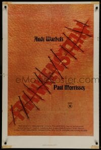 1b072 ANDY WARHOL'S FRANKENSTEIN 2D 1sh 1974 Paul Morrissey, great image of title in stitches