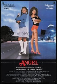 1b074 ANGEL 1sh 1983 high school honor student by day, Hollywood hooker at night!