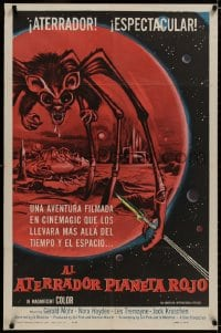 1b076 ANGRY RED PLANET int'l Spanish 1sh 1960 art of gigantic drooling bat-rat-spider creature!