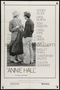 1b078 ANNIE HALL revised 1sh 1977 full-length Woody Allen & Diane Keaton in a nervous romance!