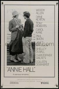 1b077 ANNIE HALL 1sh 1977 full-length Woody Allen & Diane Keaton in a nervous romance!