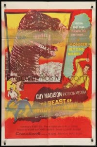 1b110 BEAST OF HOLLOW MOUNTAIN 1sh 1956 dinosaur monster beyond belief from the dawn of history