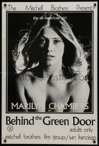 1b114 BEHIND THE GREEN DOOR 24x36 1sh 1972 Mitchell Bros' classic, c/u sexy naked Marilyn Chambers!