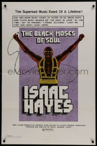 1b134 BLACK MOSES OF SOUL 1sh 1973 Isaac Hayes, the superbad music event of a lifetime!