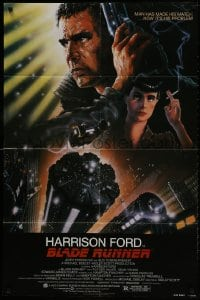 1b137 BLADE RUNNER NSS style 1sh 1982 Ridley Scott sci-fi classic, art of Harrison Ford by Alvin!
