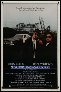 1b146 BLUES BROTHERS int'l Spanish language 1sh 1980 Belushi & Aykroyd on a mission from God!