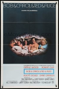 1b149 BOB & CAROL & TED & ALICE int'l 1sh 1969 cast image of Natalie Wood, Gould, Cannon & Culp