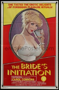 1b161 BRIDE'S INITIATION 1sh 1976 tasty erotic delights, art of sexy superstar Carol Connors!