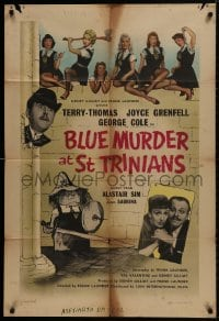 1b003 BLUE MURDER AT ST TRINIAN'S English 1sh 1957 great cartoon art of Terry-Thomas & cast!