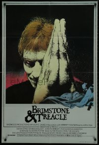 1b004 BRIMSTONE & TREACLE English 1sh 1982 Richard Loncraine directed thriller, art of Sting!