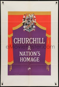1b011 CHURCHILL A NATION'S HOMAGE English 1sh 1965 about the life of Winston Churchill!