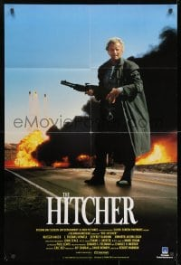 1b019 HITCHER English 1sh 1986 C. Thomas Howell, different Rutger Hauer with shotgun!