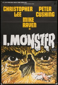 1b020 I, MONSTER English 1sh 1971 Christopher Lee & Peter Cushing in a Dr. Jekyll & Mr. Hyde story!