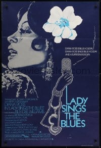 1b022 LADY SINGS THE BLUES English 1sh 1973 Diana Ross in her film debut as singer Billie Holiday!