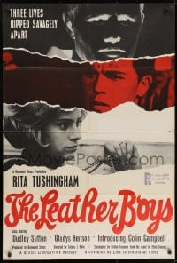 1b023 LEATHER BOYS English 1sh 1966 Rita Tushingham in English motorcycle sexual conflict classic!