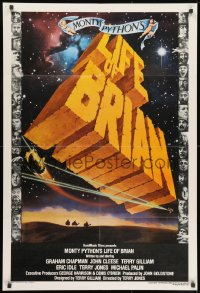 1b024 LIFE OF BRIAN English 1sh 1979 Monty Python, Chapman, best art and cast images, rare!