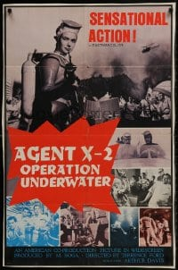 1b030 TERROR BENEATH THE SEA English 1sh 1970 Sonny Chiba vs. robot killers, different montage!