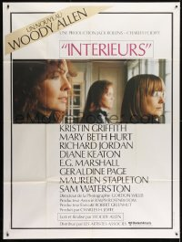 1c685 INTERIORS French 1p 1978 Diane Keaton, Mary Beth Hurt, directed by Woody Allen, classic!