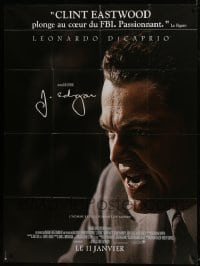 1c691 J. EDGAR advance French 1p 2012 super c/u of Leonardo DiCaprio, directed by Clint Eastwood!