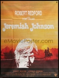 1c695 JEREMIAH JOHNSON French 1p 1972 cool artwork of Robert Redford, directed by Sydney Pollack!