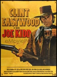 1c701 JOE KIDD French 1p 1972 best art of Clint Eastwood with beer and gun in hand by Jean Mascii!