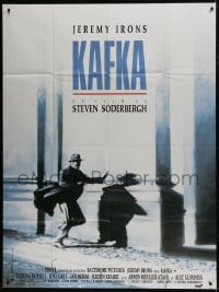 1c706 KAFKA French 1p 1991 Steven Soderbergh directed, cool image of Jeremy Irons on the run!