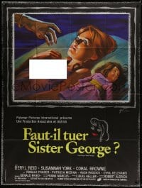 1c712 KILLING OF SISTER GEORGE French 1p 1971 different Grinsson art of naked Susannah York, Aldrich