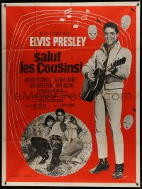 1c715 KISSIN' COUSINS French 1p 1970 different images of Elvis Presley with guitar & girls, Guys art