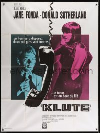 1c716 KLUTE French 1p 1971 Donald Sutherland helps intended murder victim & call girl Jane Fonda!