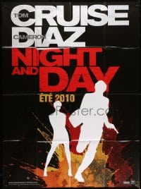1c717 KNIGHT & DAY teaser French 1p 2010 cool silhouette art of Tom Cruise & Cameron Diaz!