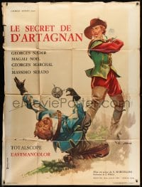 1c882 SECRET MARK OF D'ARTAGNAN French 1p 1962 Olivetti art of George Nader as the hero!