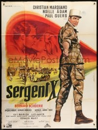 1c886 SERGENT X French 1p 1960 full-length Jean Mascii art of Legionnaire Christian Marquand!