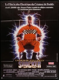1c893 SHOCKER French 1p 1990 Wes Craven, wild image of electrocuted murderer Mitch Pileggi!